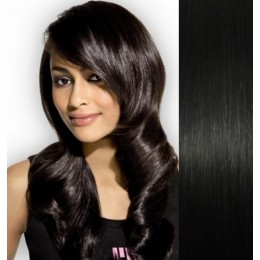 Vlasy pro metodu Pu Extension / TapeX / Tape Hair / Tape IN 50cm - středně hnědé