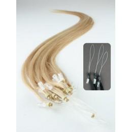 Clip in kudrnaté vlasy 100% lidské REMY 53cm - nejsvětlejší blond