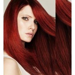 Clip in vlasy 53cm 100% lidské – REMY 100g – PLATINA/SVĚTLE HNĚDÁ