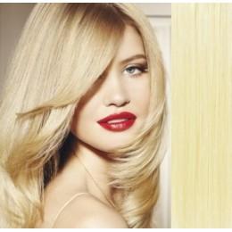73cm Clip In Haar Remy 100% Menschenhaar europäischen Typs - weißblond