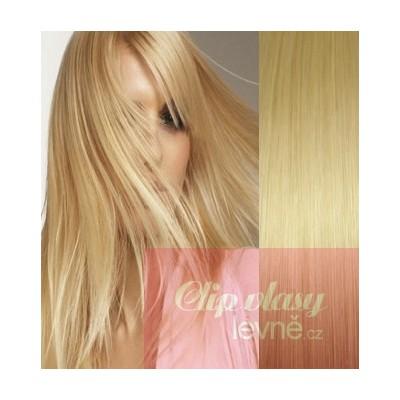 53cm Clip In Haar 100% Menschenhaar europäischen Typs - hellblond