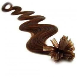 Vlasy evropského typu k prodlužování keratinem 50cm - černé