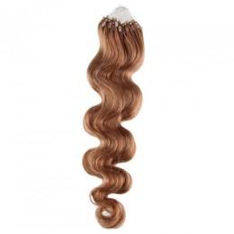 Wellige Haar für die Methoden Micro Ring / Easy Loop 50 cm – hellbraun