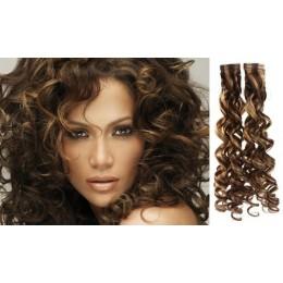 Vlasy pro metodu Pu Extension / TapeX / Tape Hair / Tape IN 50cm - černé