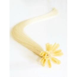 Clip in maxi set 43cm pravé lidské vlasy - REMY 140g - nejsvětlejší blond