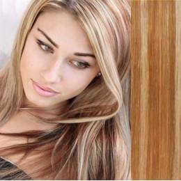 Clip in příčesek culík / cop 100% japonský kanekalon 60cm vlnitý - nejsvětlejší blond