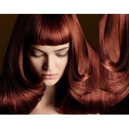 Clip in ofina – REMY 100% lidské vlasy – PLATINA/SVĚTLE HNĚDÁ