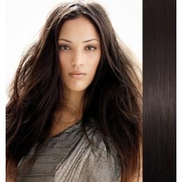 Vlasy pro metodu Pu Extension / TapeX / Tape Hair / Tape IN 60cm - platina/světle hnědá