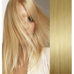 Vlasy evropského typu k prodlužování keratinem 50cm - tmavě hnědé