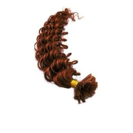 Lockiges 60 cm Haar europäischen Typs für die Keratinmethode - kupfer