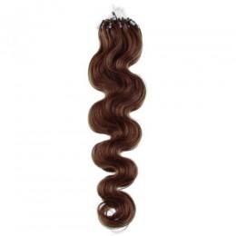 Wellige Haar für die Methoden Micro Ring / Easy Loop 50 cm – mittelbraun