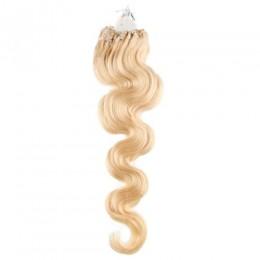 Wellige Haar für die Methoden Micro Ring / Easy Loop 50 cm – weißblond