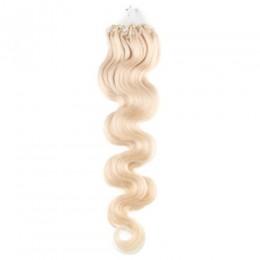 Wellige Haar für die Methoden Micro Ring / Easy Loop 50 cm – platin