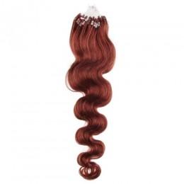 Wellige Haar für die Methoden Micro Ring / Easy Loop 60 cm – kupfer