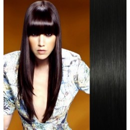 Clip in vlasy 43cm 100% lidské - REMY 70g – světle hnědá