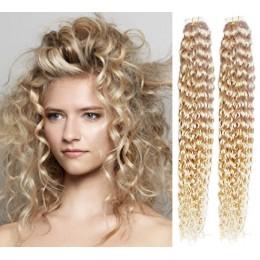 Lockiges Haar Für Methoden Tape In 50cm - platin