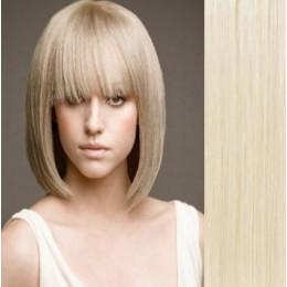 Clip in vlasy 43cm 100% lidské - REMY 70g – světlý melír