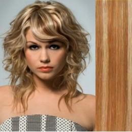 Vlasy evropského typu k prodlužování keratinem 40cm - tmavě hnědé
